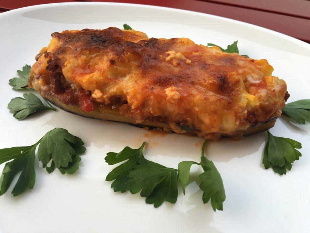 Fırında Patates Püreli Patlıcan Yemeği Tarifi