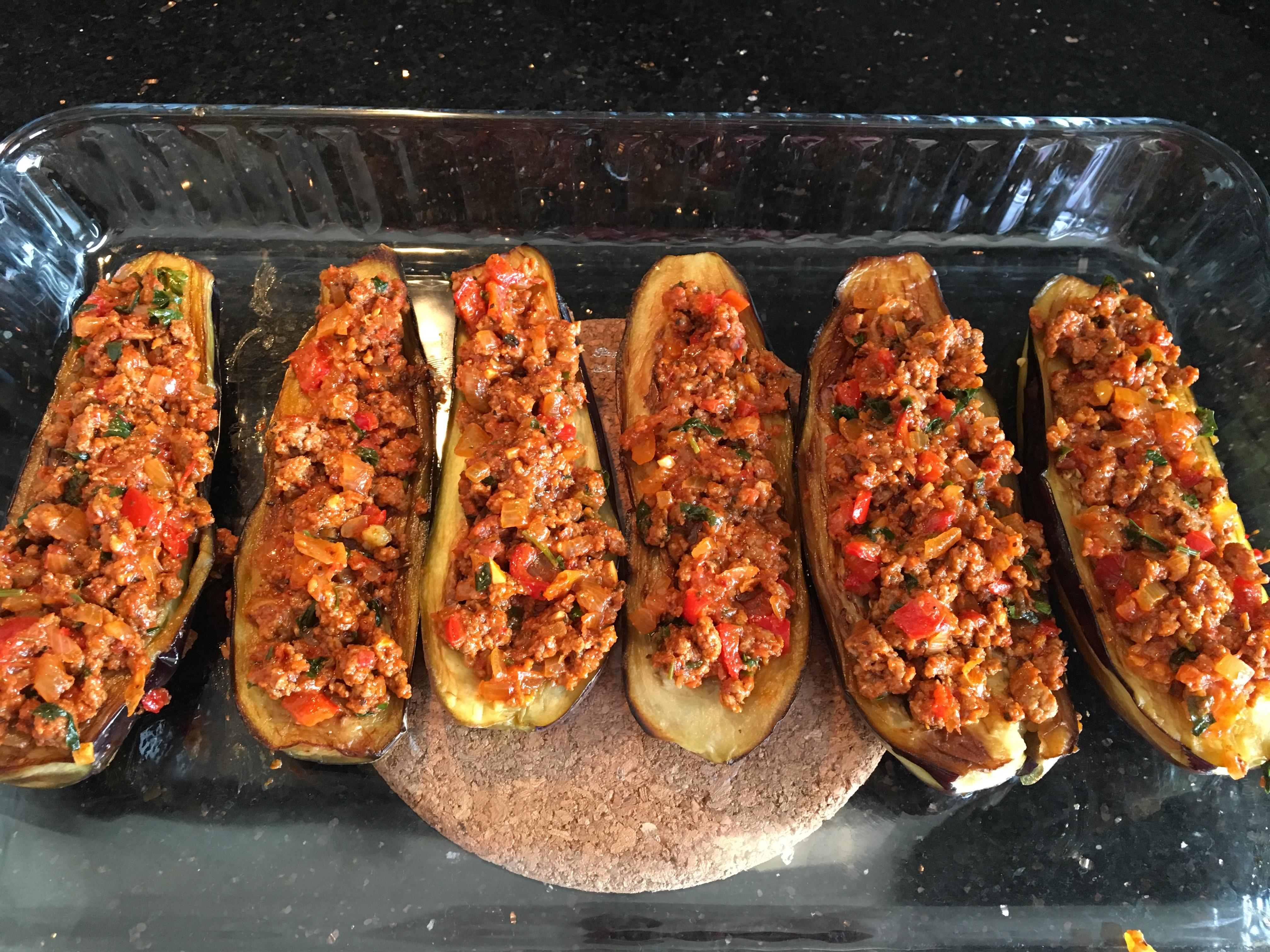 Fırında Kıymalı Köz Patlıcan Yemeği Tarifi