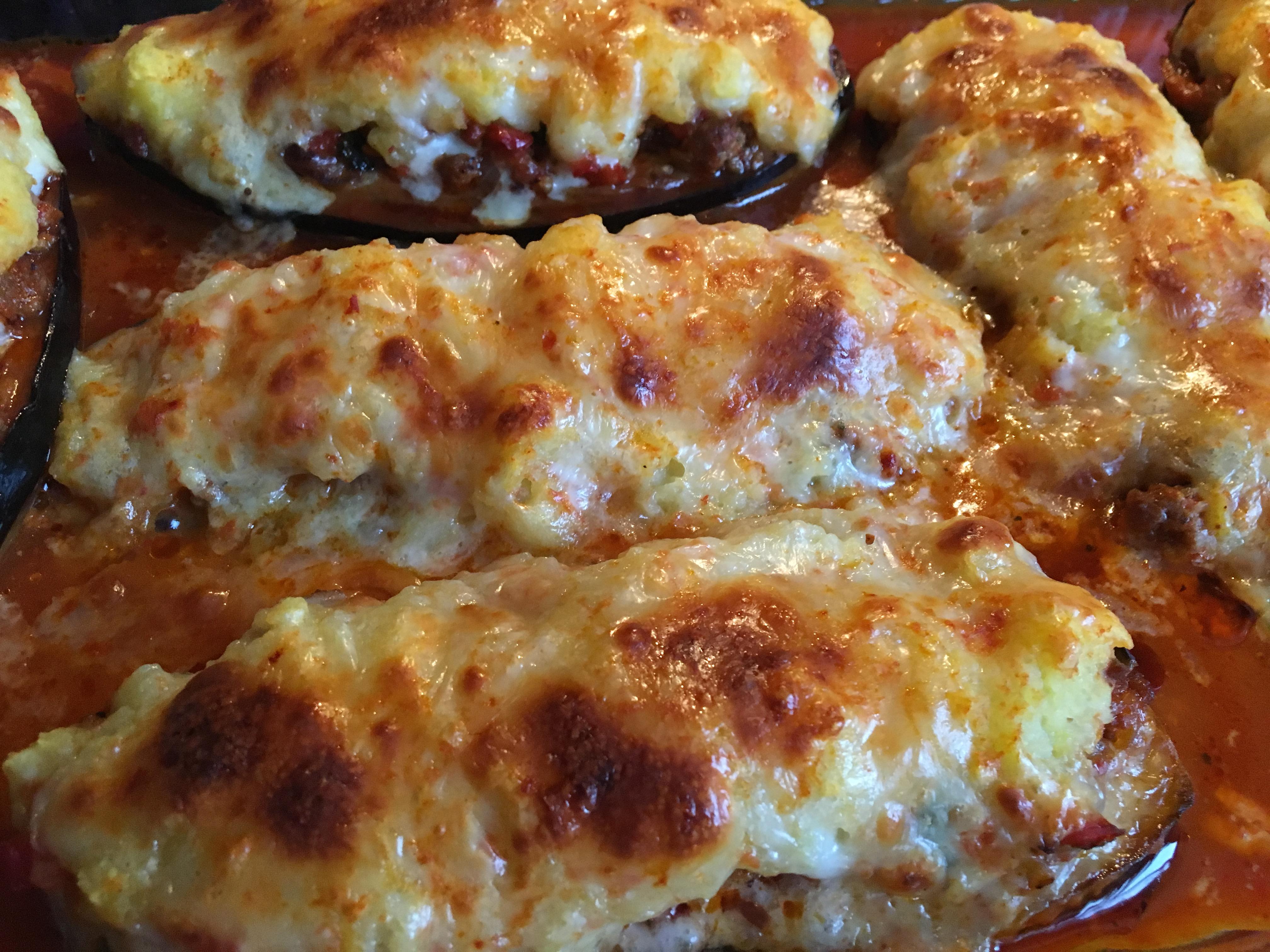 Patates Püreli Patlıcan Kebabı – Fırında Patlıcan Yemeği Tarifi